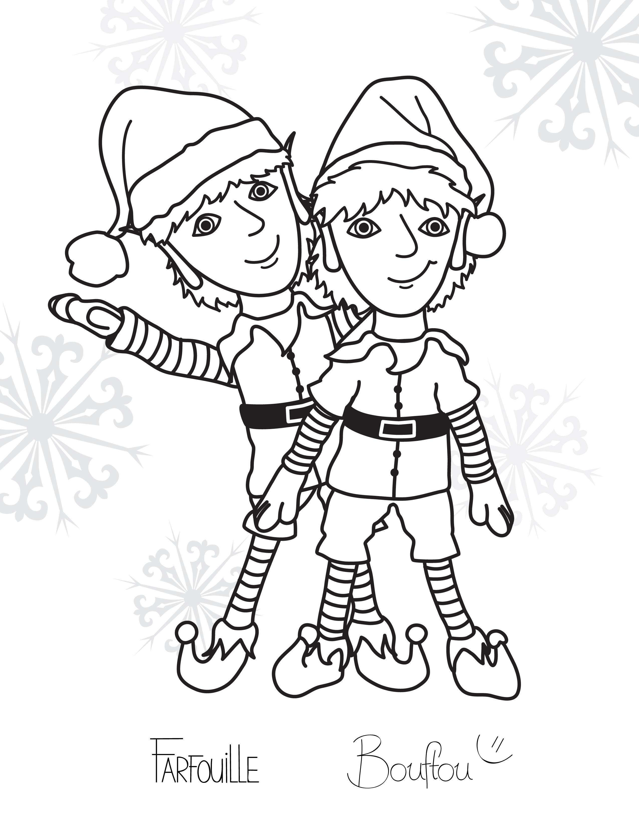 Beau Dessin Lutin De Noel A Imprimer